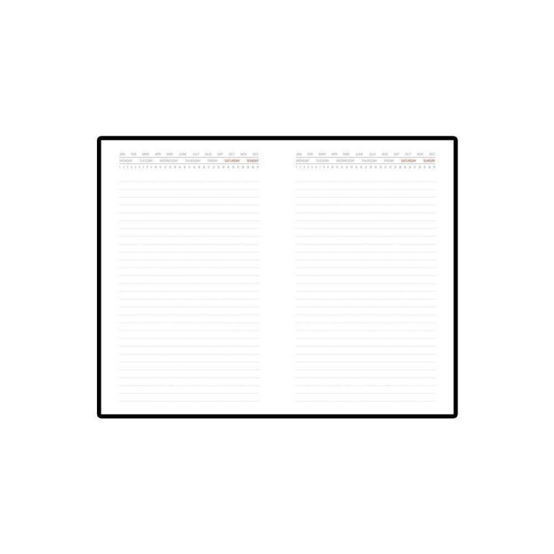 Ежедневник недатированный с индексами А5 «Bergamo» серый