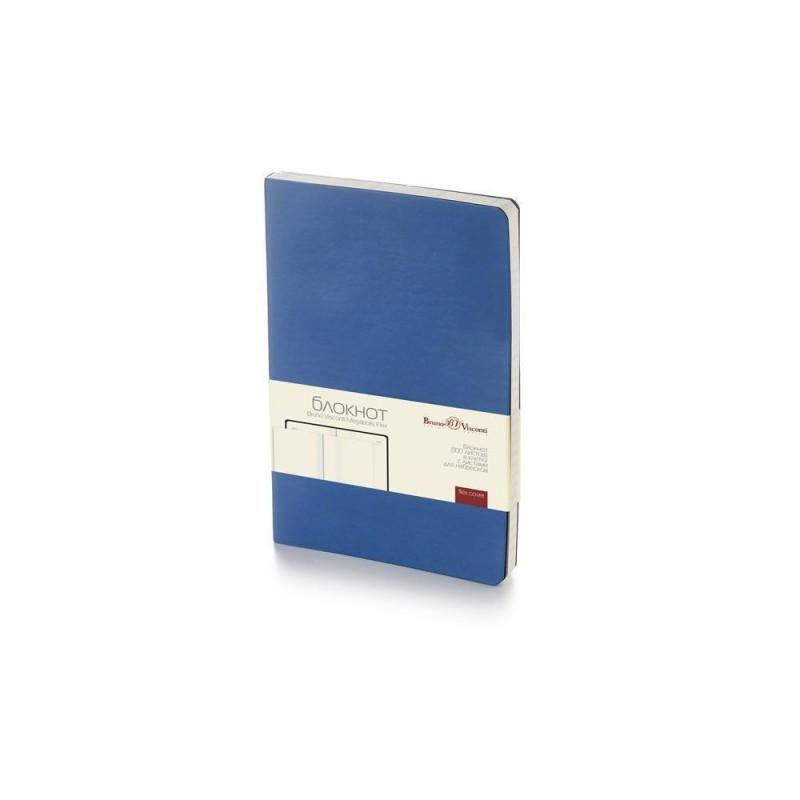 Блокнот А5 «Megapolis Flex» soft-touch синий