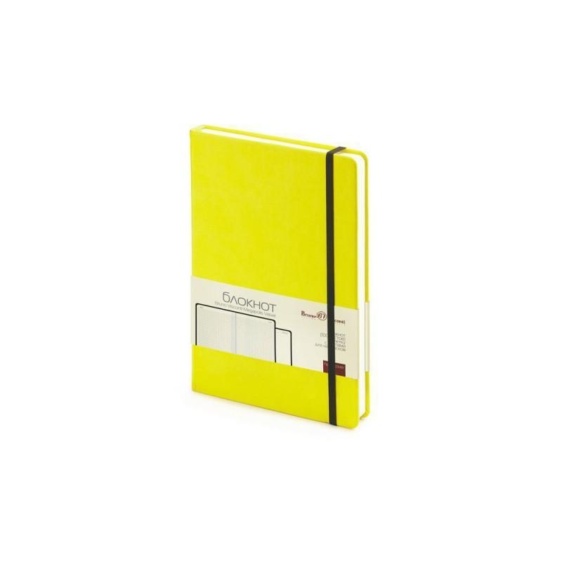 Блокнот А5 «Megapolis Velvet» на резинке желтый