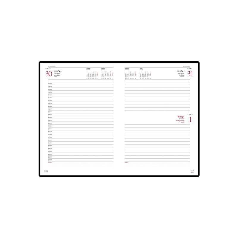Ежедневник А5 датированный «Leader» 2020 черный