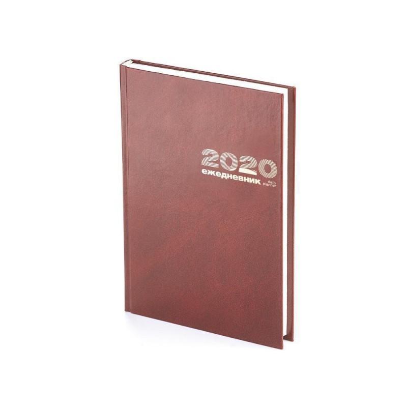 Ежедневник А5 датированный «Бумвинил» 2020 коричневый