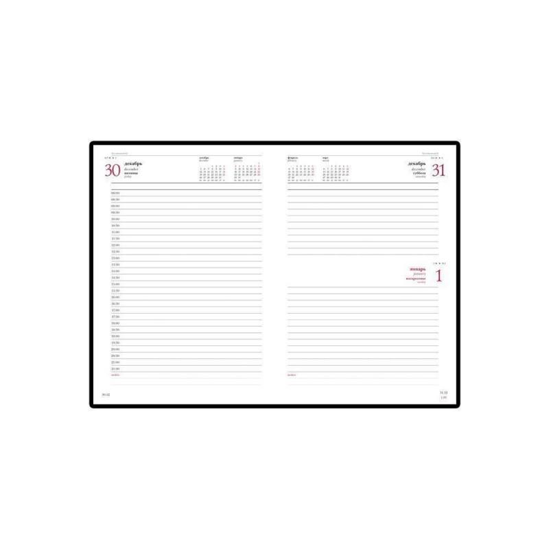 Ежедневник А5 датированный «Velvet» 2020 бордовый