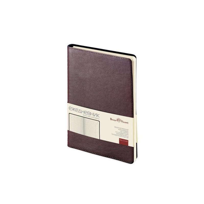 Ежедневник А5 недатированный «Milano» коричневый