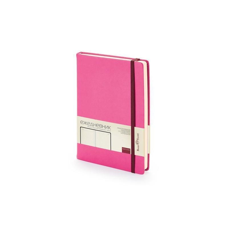 Ежедневник А5 недатированный «Megapolis Velvet» розовый