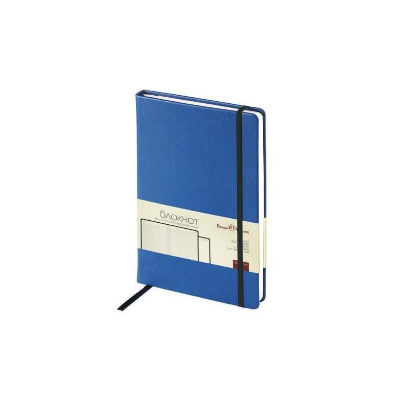 Блокнот А5 «Megapolis Velvet» на резинке синий
