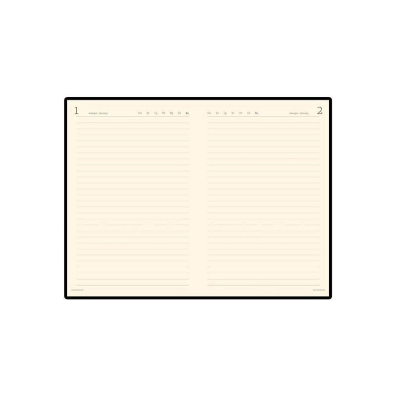Ежедневник полудатированный портфолио А5  'Profy' коричневый