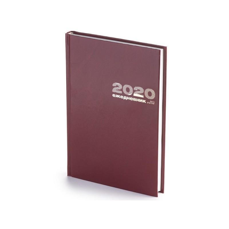 Ежедневник А5 датированный «Бумвинил» 2020 бордовый