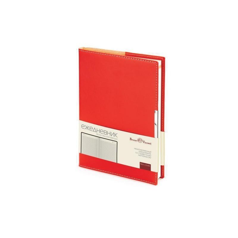 Ежедневник недатированный А5 «Metropol» красный