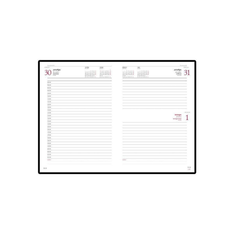 Ежедневник А5 датированный «Leader» 2020 коричневый