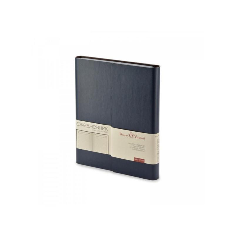 Ежедневник недатированный с магнитным клапаном А5 'WALTZ' темно-синий