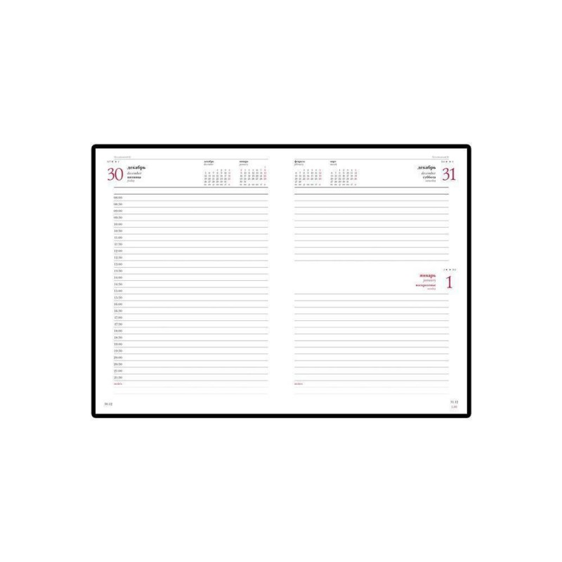 Ежедневник А5 датированный «Velvet» 2020 черный