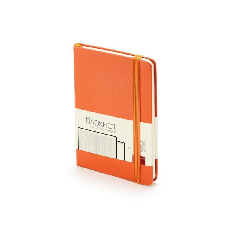 Блокнот А6 «Megapolis Journal» оранжевый