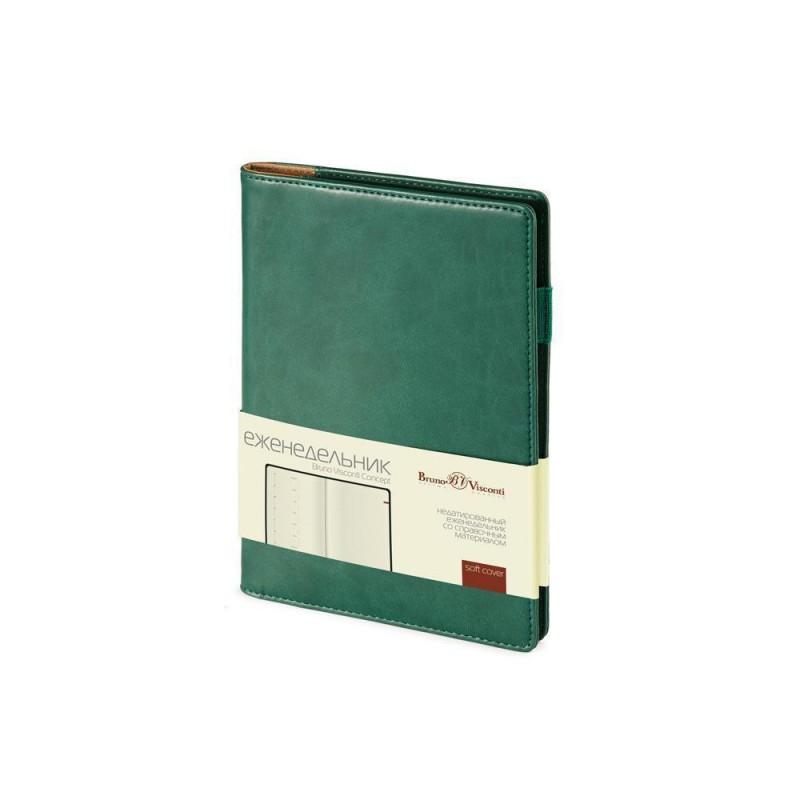 Еженедельник недатированный А5 «Concept» зеленый