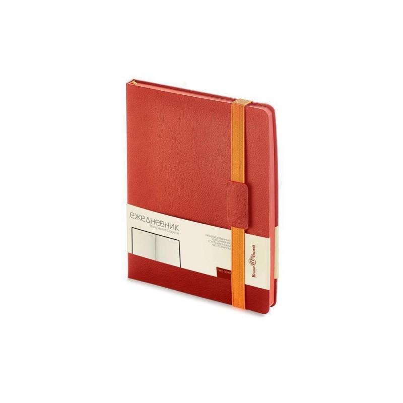 Ежедневник В5 недатированный «Leggenda» красный