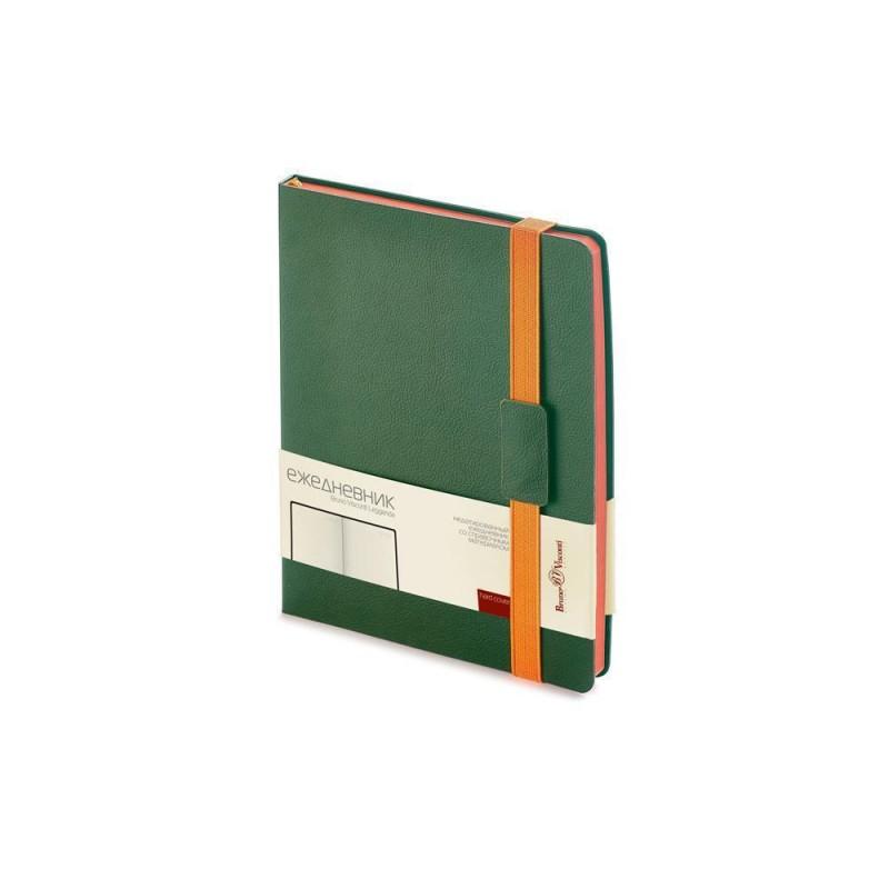 Ежедневник В5 недатированный «Leggenda» зеленый