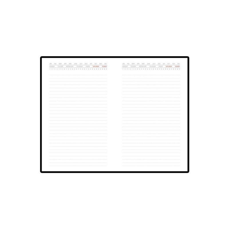 Ежедневник недатированный с индексами А5 «Bergamo» красный