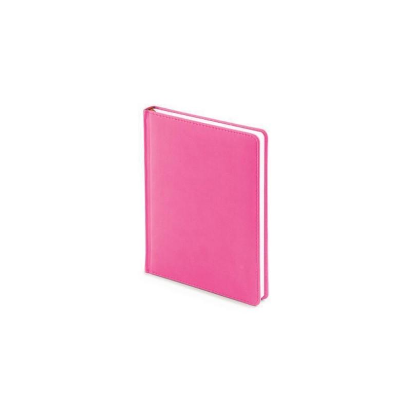 Ежедневник недатированный А6+ «Velvet» розовый флуор
