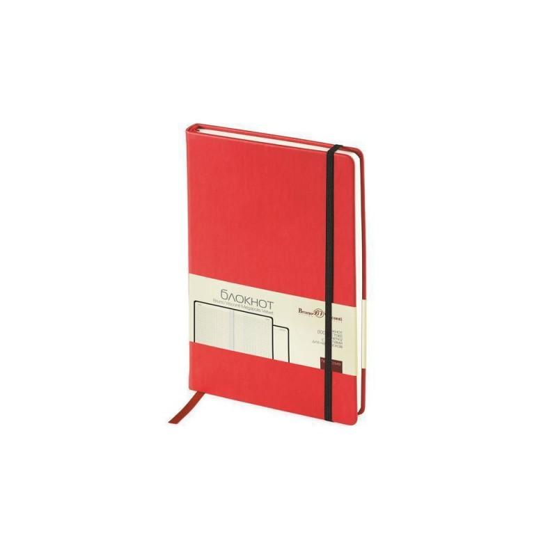 Блокнот А5 «Megapolis Velvet» на резинке красный