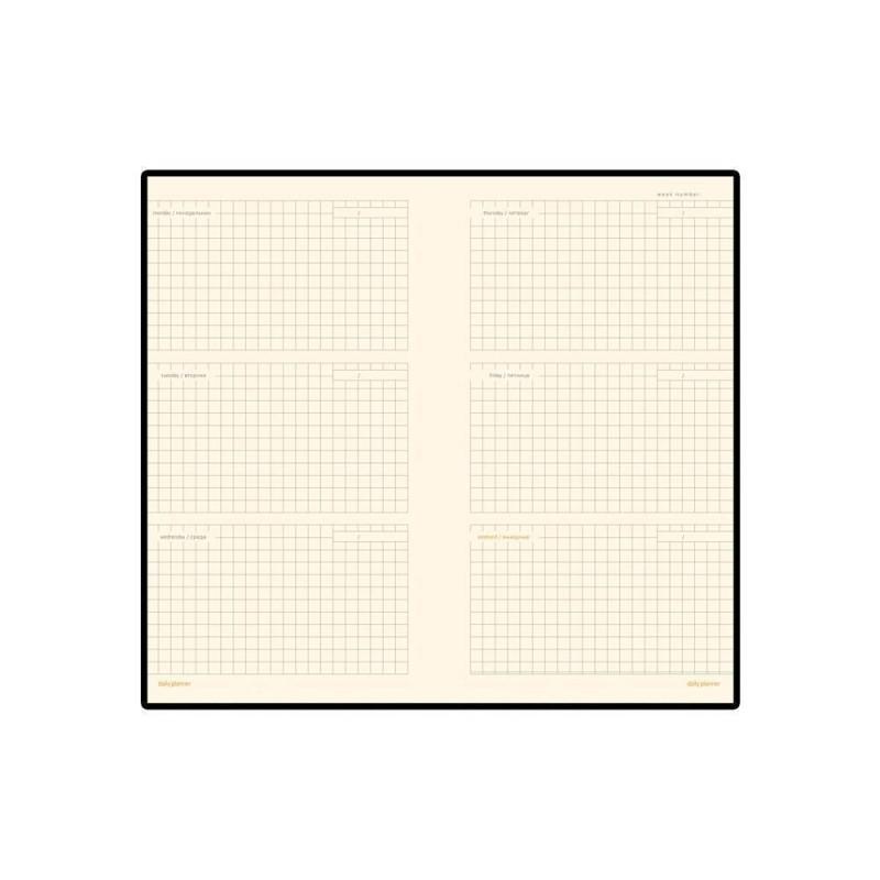 Еженедельник недатированный А6 «Metropol» коричневый