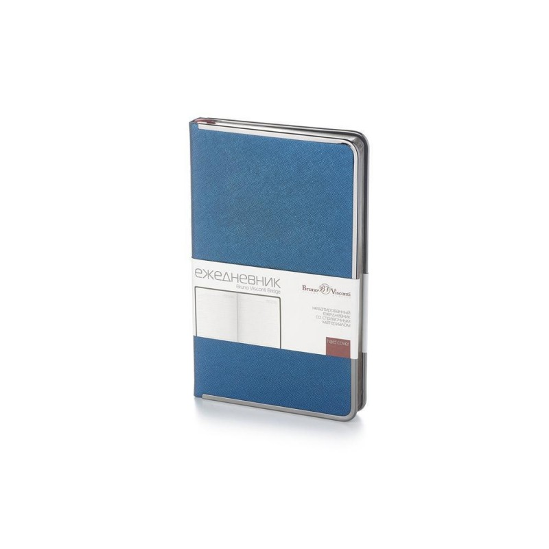 Ежедневник А5 недатированный «Bridge» синий
