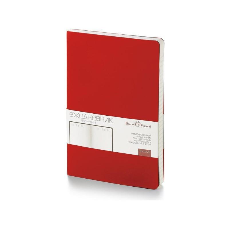 Ежедневник недатированный А5 'Vincent' красный