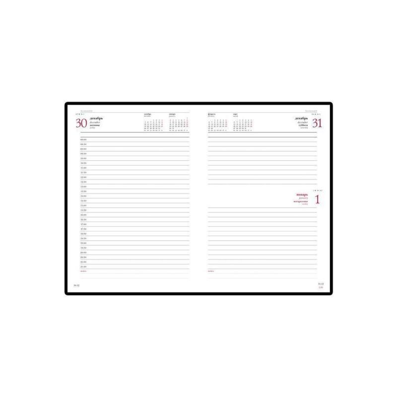Ежедневник А5 датированный «Sidney Nebraska» 2020 красный