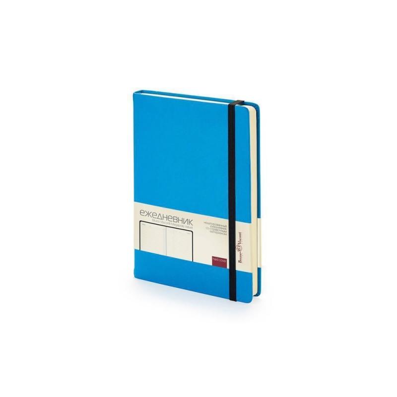 Ежедневник А5 недатированный «Megapolis Velvet» синий флуор