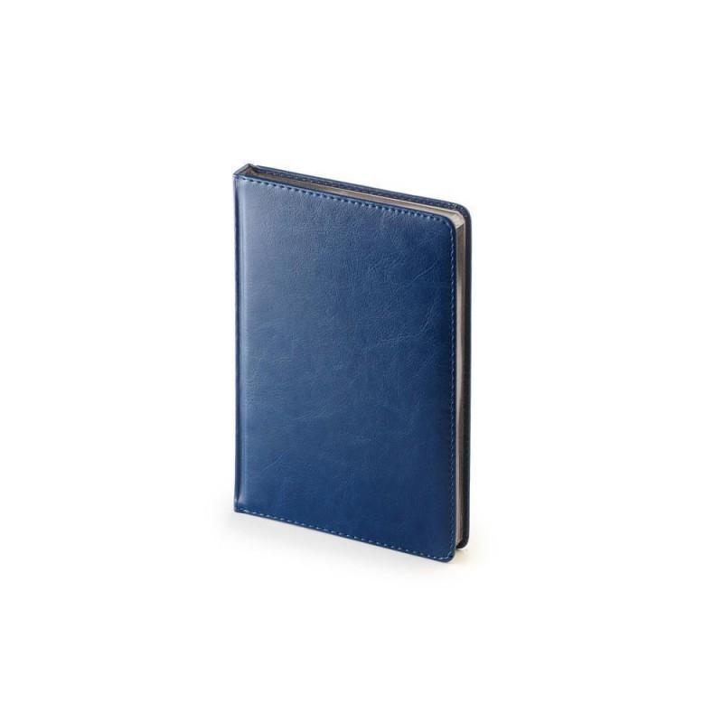 Ежедневник недатированный А5 «Sidney Nebraska» синий серебристым срезом
