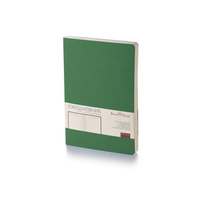 Ежедневник А5 недатированный «Megapolis Flex» темно-зеленый