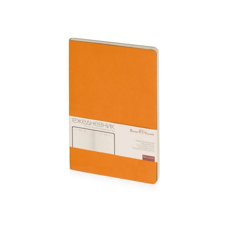 Ежедневник А5 недатированный «Megapolis Flex» оранжевый