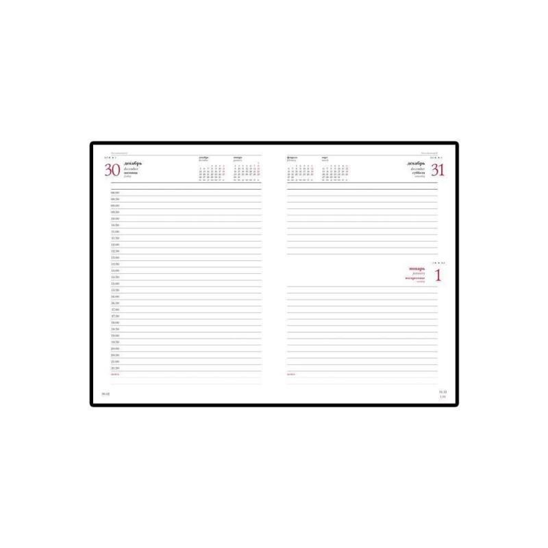 Ежедневник датированный А5 «Ideal New» 2020 бордовый