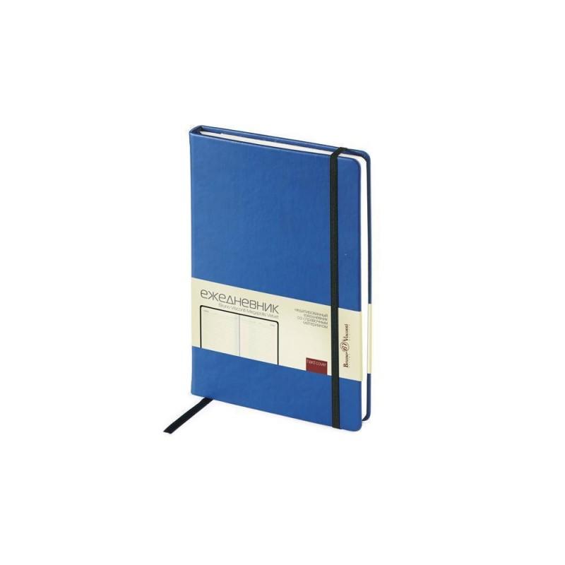 Ежедневник А5 недатированный «Megapolis Velvet» синий