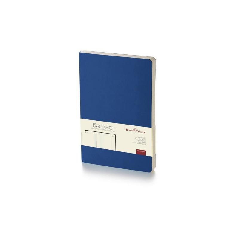 Блокнот А5 «Megapolis Flex» soft-touch темно-синий