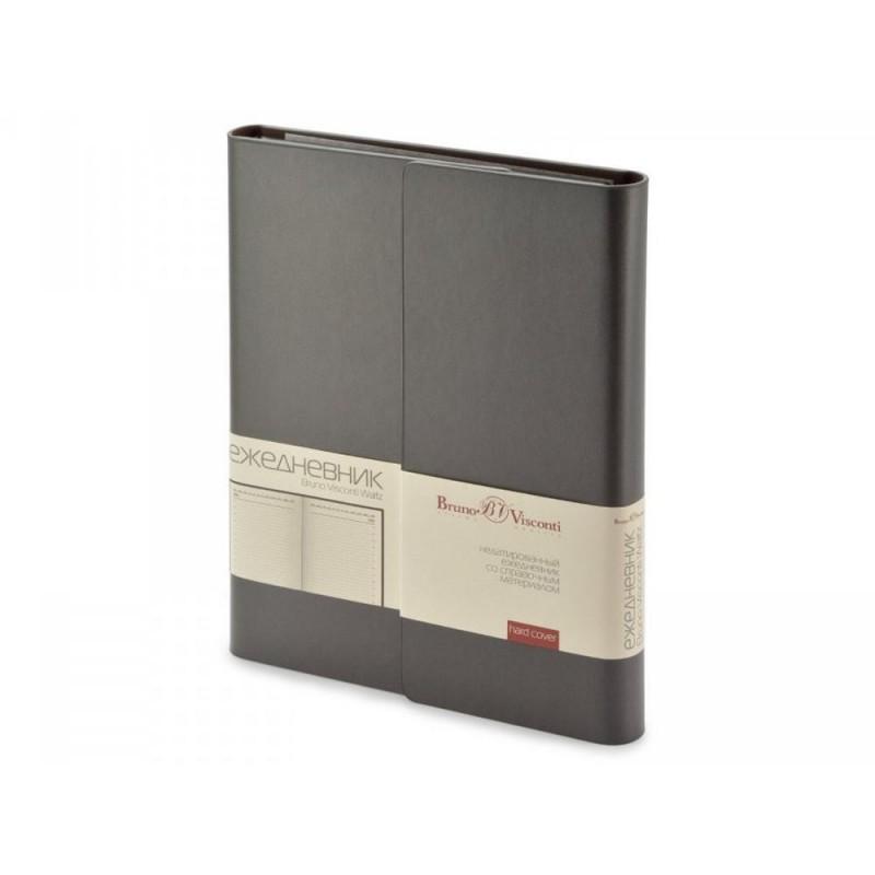 Ежедневник недатированный с магнитным клапаном А5 'WALTZ' темно-серый