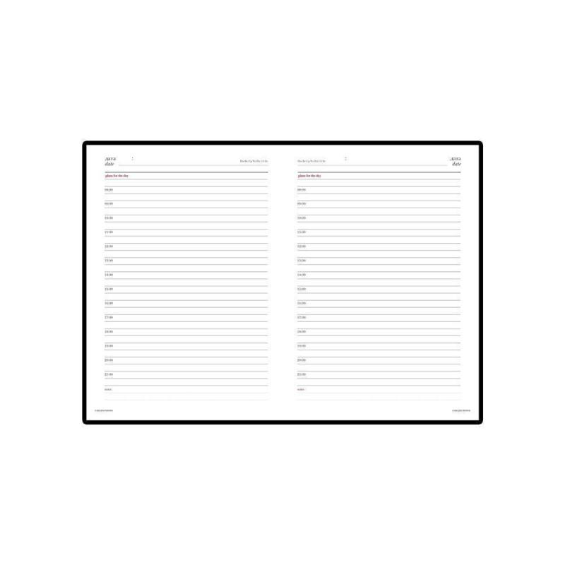Ежедневник недатированный А6+ «Sidney Nebraska» коричневый