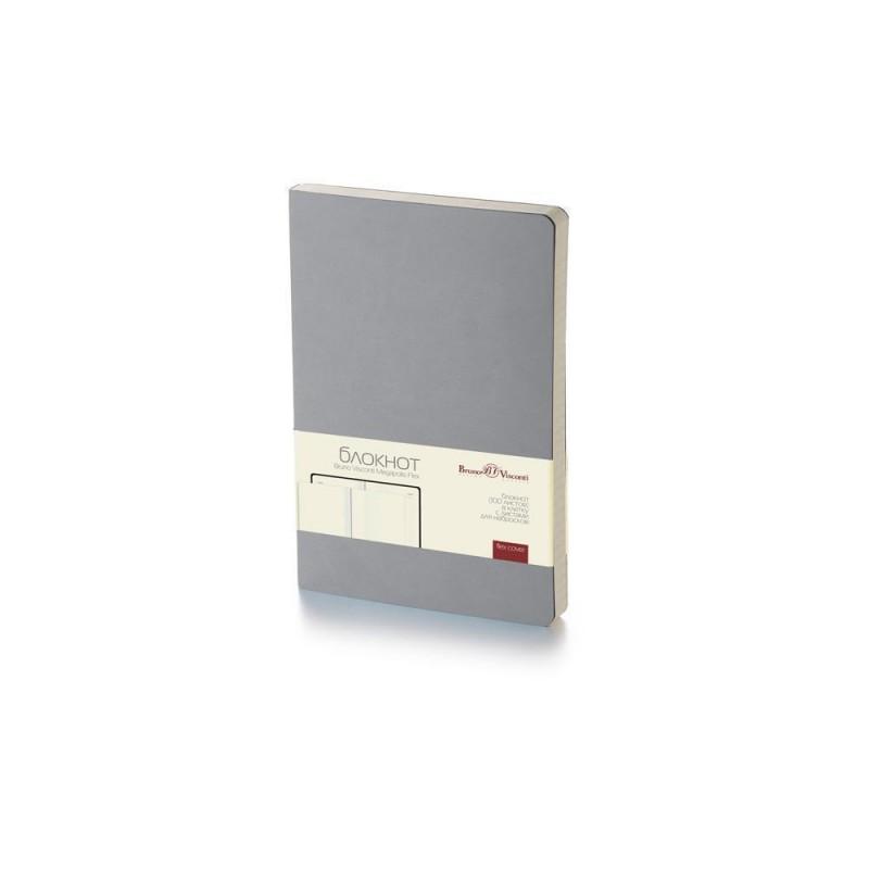 Блокнот А5 «Megapolis Flex» soft-touch серый