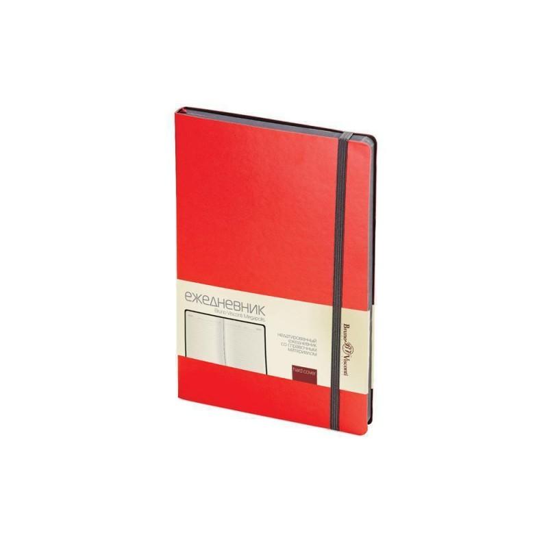 Ежедневник А5 недатированный «Megapolis Soft» красный