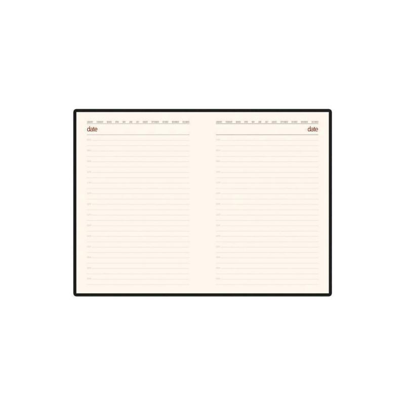 Ежедневник недатированный А5 'Senate' с магнитным клапаном черный