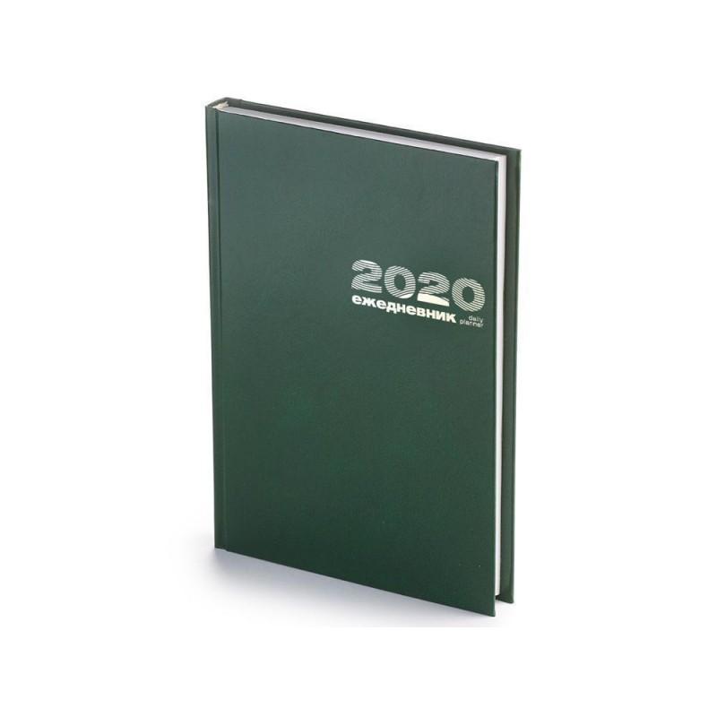 Ежедневник А5 датированный «Бумвинил» 2020 зеленый
