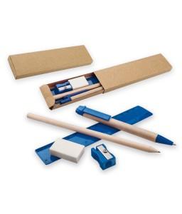 Набор канцелярский (карандаш, стирка, точилка, линейка)